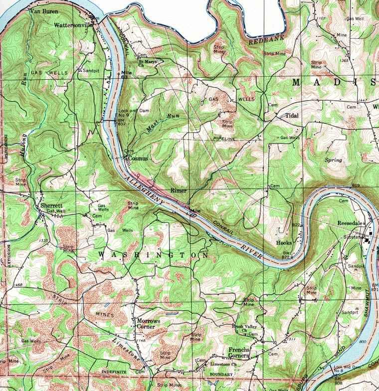 Armstrong County Pennsylvania, Township Maps