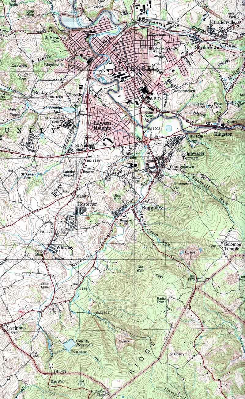 Westmoreland County Pennsylvania Township Map